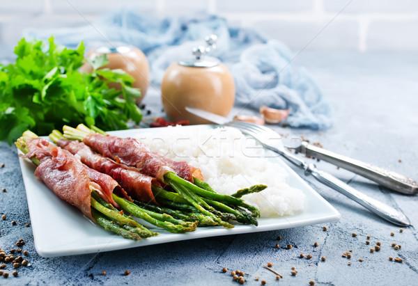Riso asparagi carne verde alimentare Foto d'archivio © tycoon