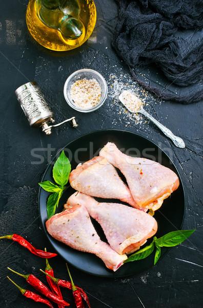 鶏 脚 生 肉 ハーブ スパイス ストックフォト © tycoon
