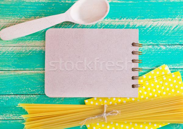 Greggio pasta carta sfondo spazio notebook Foto d'archivio © tycoon