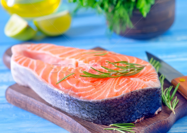 Zalm ruw vis achtergrond diner Rood Stockfoto © tycoon