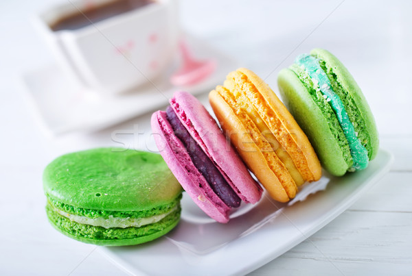 фон оранжевый клубника сэндвич десерта розовый Сток-фото © tycoon
