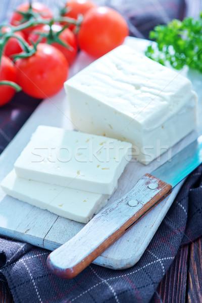 Conselho tabela comida queijo leite Foto stock © tycoon