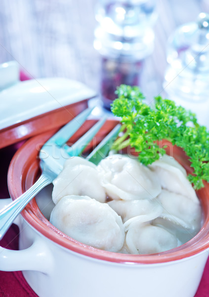 pelmeni with meat Stock photo © tycoon