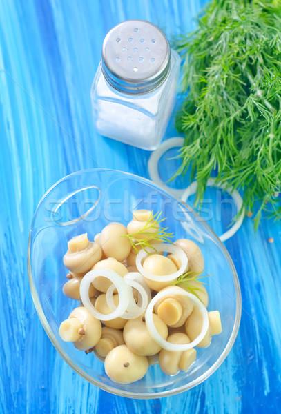 Setas mesa botella vegetales contenedor comida Foto stock © tycoon