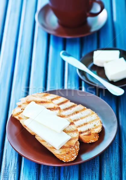 Pain beurre plaque table café été Photo stock © tycoon