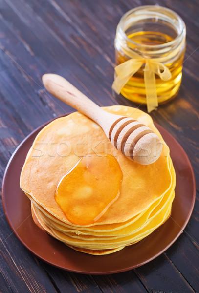 Krep gıda arka plan buğday altın kahvaltı Stok fotoğraf © tycoon