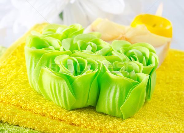 Aroma zeep bloem natuur lichaam gezondheid Stockfoto © tycoon