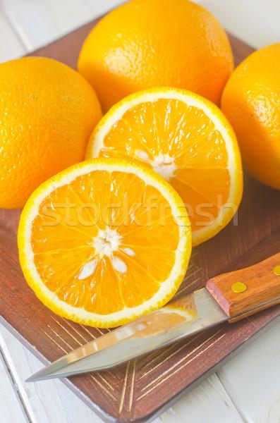 Orangen home Gesundheit Hintergrund orange Tabelle Stock foto © tycoon