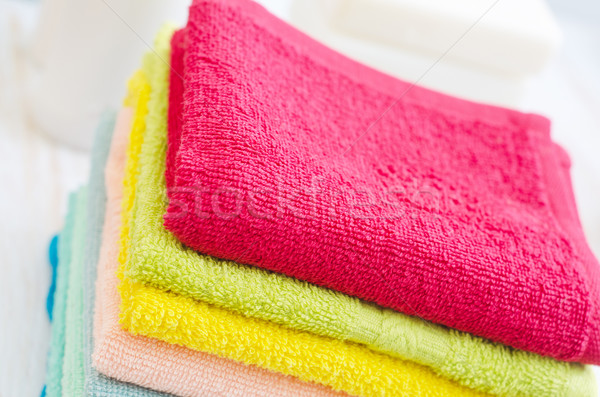 soap and towels Stock photo © tycoon