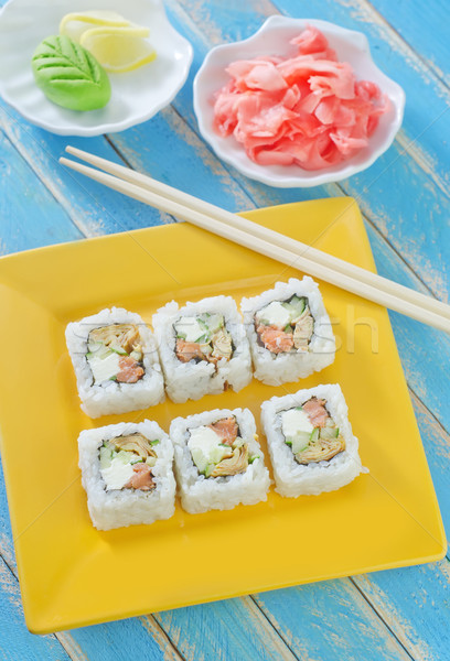 Stock photo: sushi