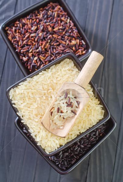 Foto stock: Crudo · arroz · bolos · textura · negro · Asia