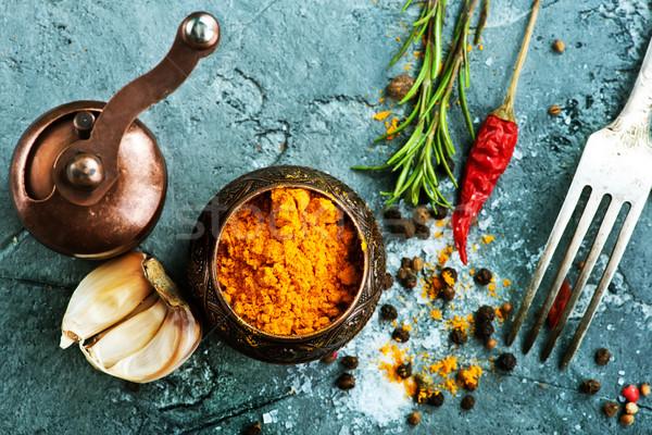 аромат Spice серый продовольствие таблице красный Сток-фото © tycoon