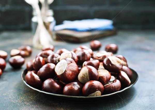 raw chesnuts  Stock photo © tycoon
