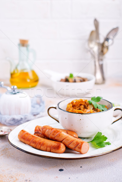 sausages with cabbage Stock photo © tycoon
