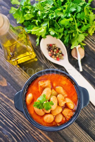 Sopa de frijol color pimienta mexicano vegetales papa Foto stock © tycoon