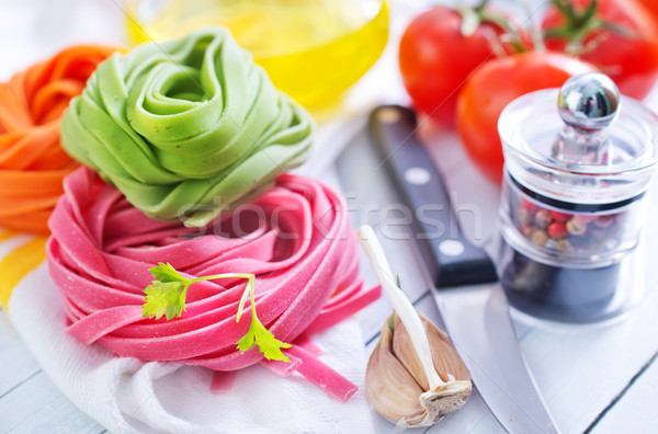 Ruw pasta gezondheid achtergrond keuken olie Stockfoto © tycoon