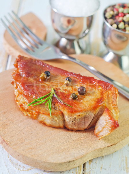 Stock photo: baked meat