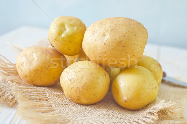 Patates gıda grup akşam yemeği pişirme Stok fotoğraf © tycoon