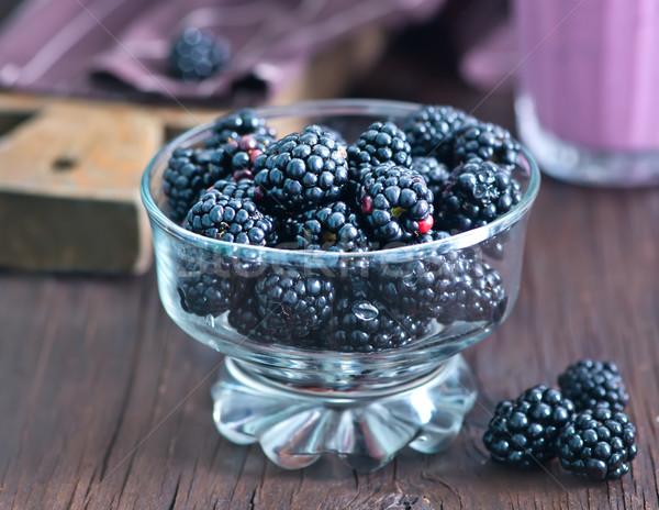 yogurt with berries Stock photo © tycoon