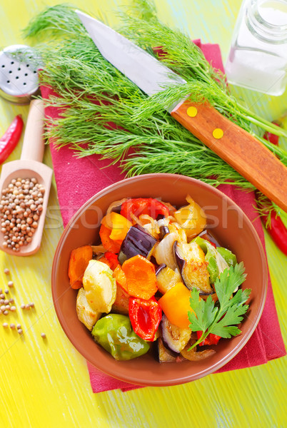 baked vegetables Stock photo © tycoon