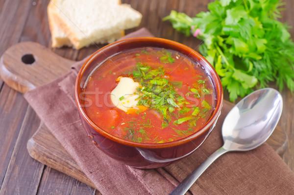 Stock photo: fresh beet soup