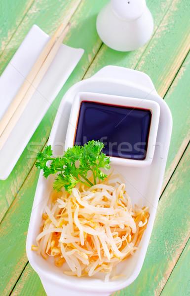 Soya sosu doğa yaprak Asya sarı taze Stok fotoğraf © tycoon