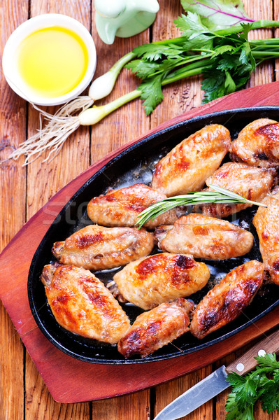 fried chicken wings Stock photo © tycoon