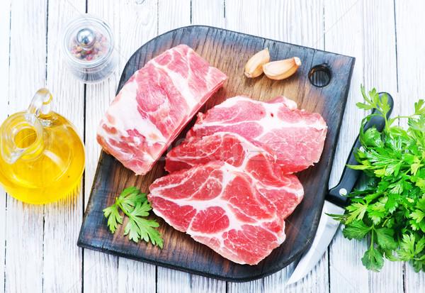 Crudo carne especias mesa alimentos Foto stock © tycoon