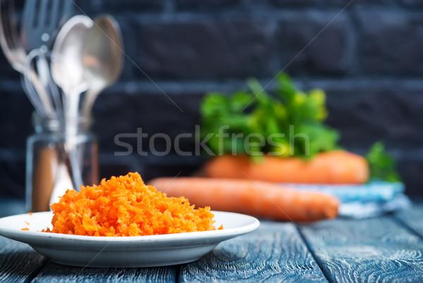 Cenoura prato tabela comida saúde jantar Foto stock © tycoon