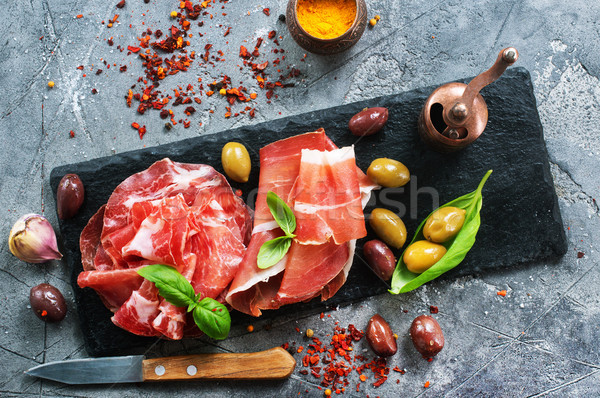 smoked parma ham Stock photo © tycoon