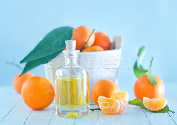 Mandarina blanco mesa alimentos cuerpo Foto stock © tycoon
