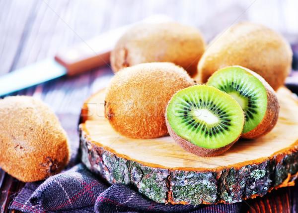 Vers kiwi tabel voedsel hout Stockfoto © tycoon