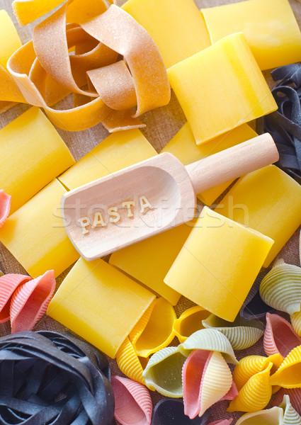 Makaronu surowy pszenicy żywności Zdjęcia stock © tycoon