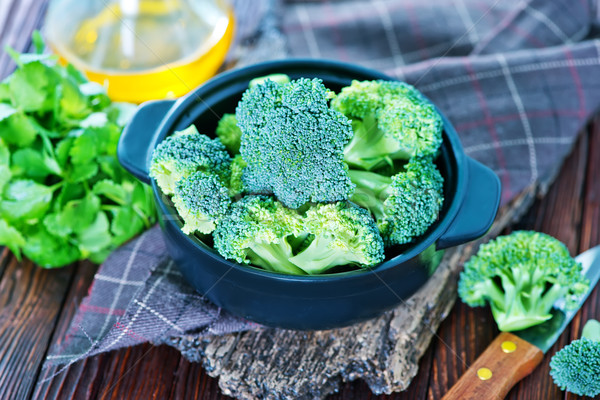 ブロッコリー ボウル 表 食品 木材 緑 ストックフォト © tycoon