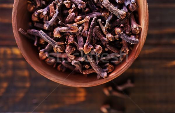 クローブ 木製 ボウル 表 食品 料理 ストックフォト © tycoon