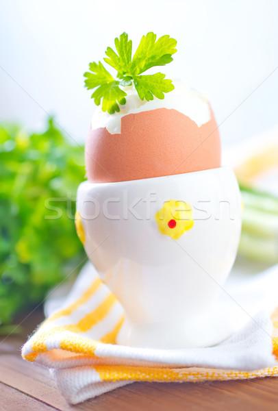 卵 食品 表 食べる スプーン ストックフォト © tycoon