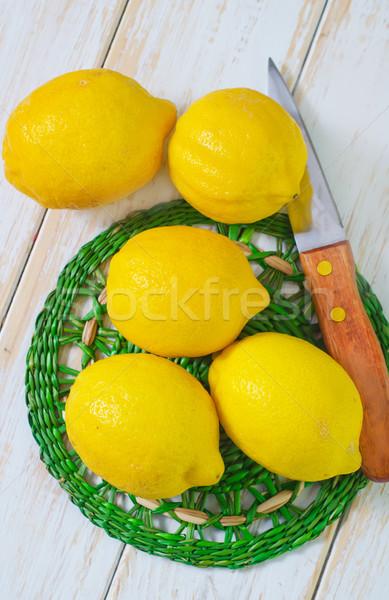 Fresco limões comida saúde inverno suco Foto stock © tycoon