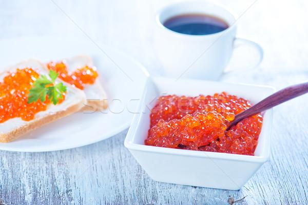 salmon caviar Stock photo © tycoon
