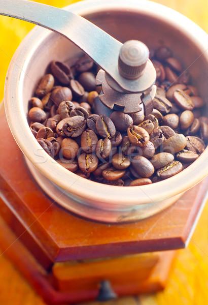 Retro caffè mill tavolo in legno texture sfondo Foto d'archivio © tycoon