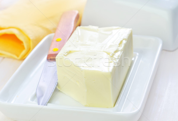 Boter textuur voedsel achtergrond tabel tarwe Stockfoto © tycoon