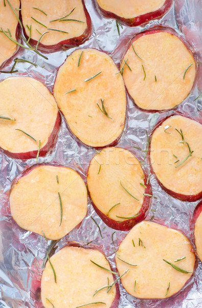 Patata dolce rosmarino alimentare Cup studio veloce Foto d'archivio © tycoon