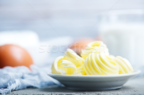 Butter Platte Tabelle Essen Natur Frühstück Stock foto © tycoon