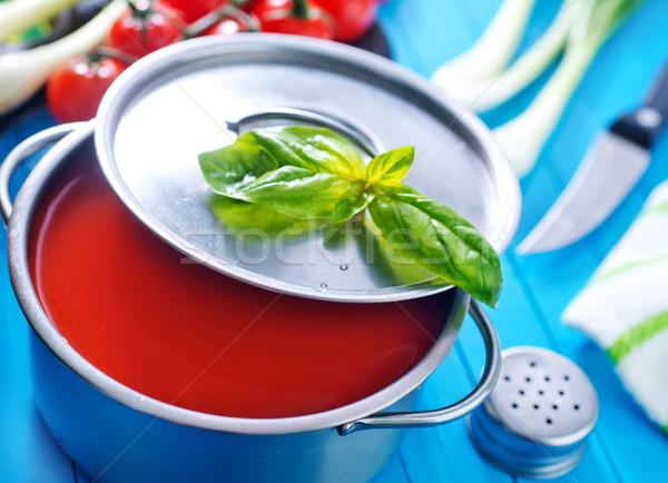 Soupe à la tomate texture alimentaire bois dîner rouge Photo stock © tycoon