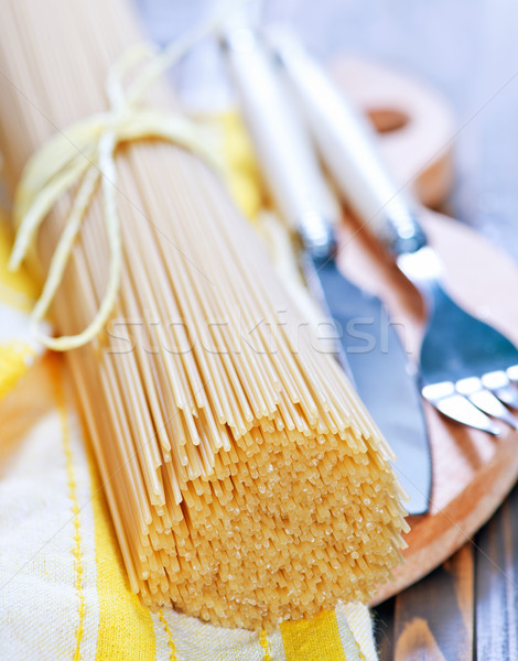 raw spaghetti Stock photo © tycoon