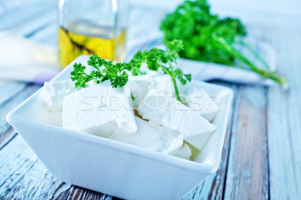 フェタチーズ ボウル 表 食品 牛 緑 ストックフォト © tycoon