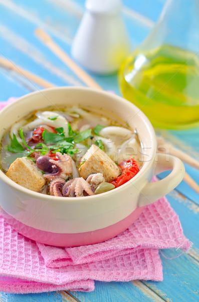 Stockfoto: Zeevruchten · soep · blad · asian · eten · hot