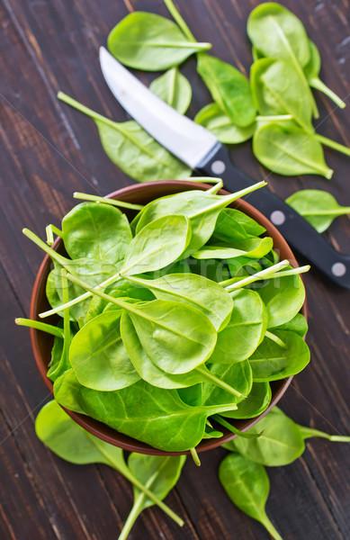świeże szpinak trawy liści zdrowia tablicy Zdjęcia stock © tycoon