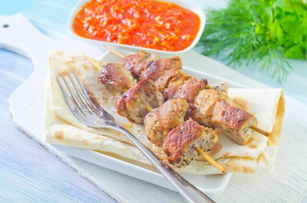 Kebab diner Rood vet tomaat lunch Stockfoto © tycoon