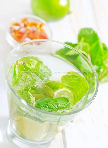 Mojito festa fruto tabela verde coquetel Foto stock © tycoon