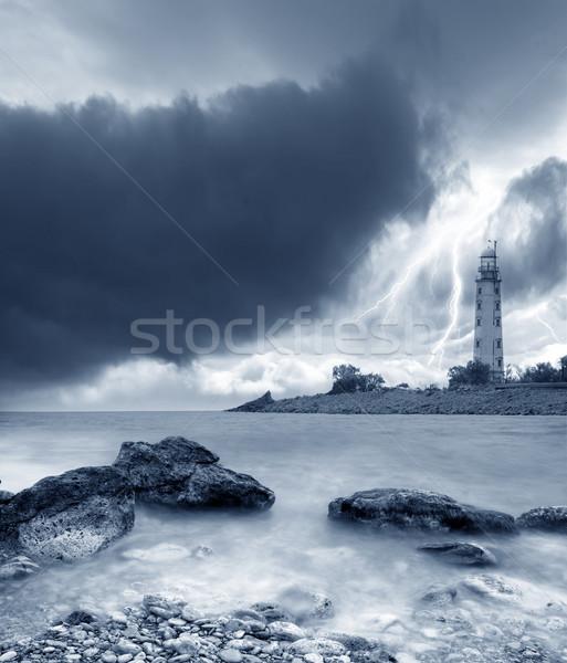 Vihar tenger tengerpart égbolt természet tájkép Stock fotó © tycoon